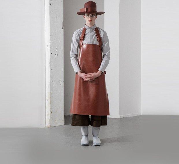 Молодой китайский дизайнер выпустила коллекцию одежды для рабочих, врачей и мясников. Изображение № 5.