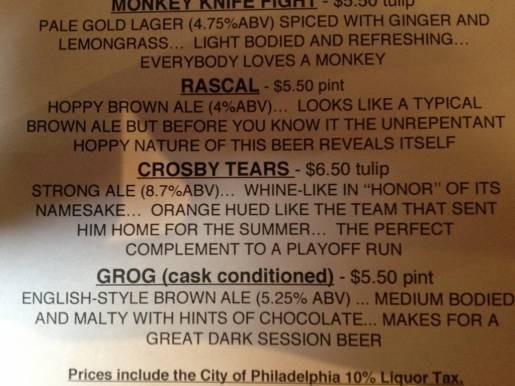 В Филадельфии стали продавать пиво «Слезы Кросби» в честь нападающего команды «Питтсбург Пингвинс». Изображение № 1.