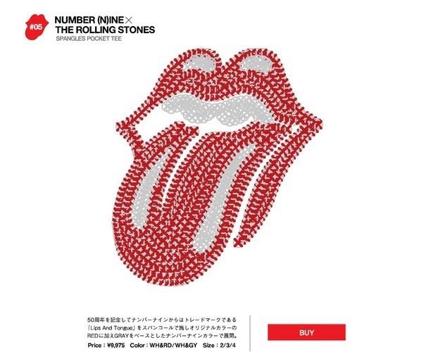 Японские модные бренды отметили юбилей The Rolling Stones коллекцией футболок. Изображение № 10.
