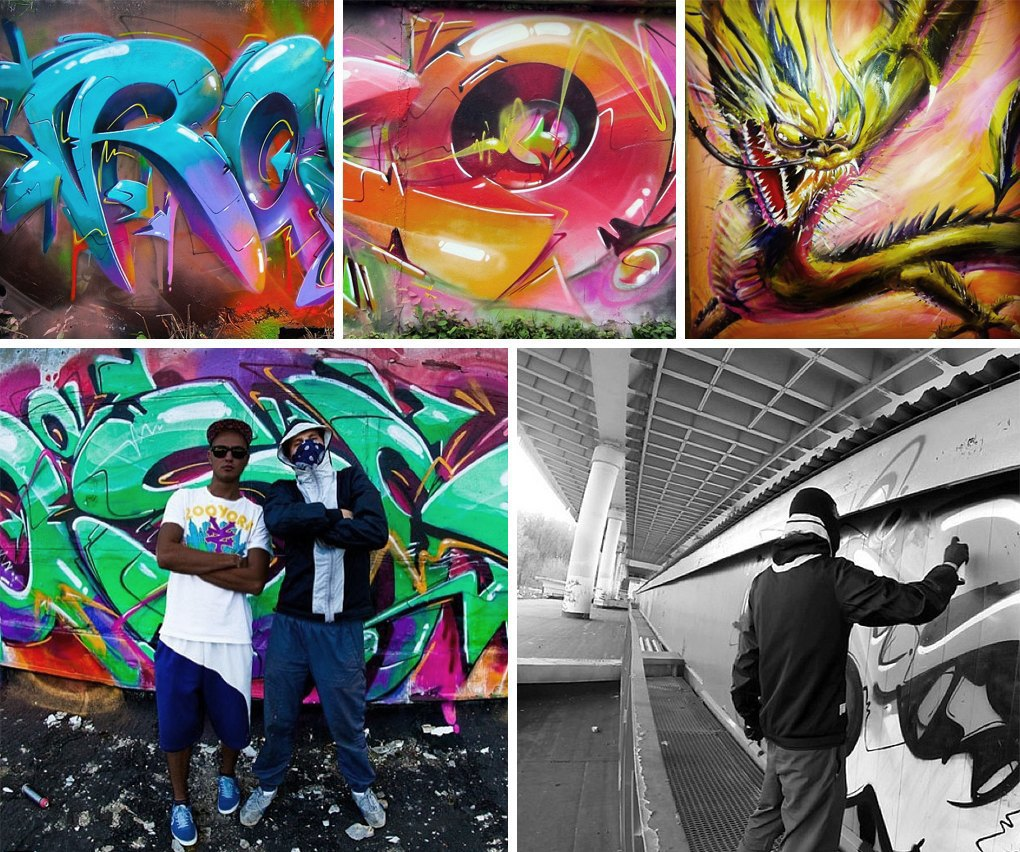 Что публикуют в своих Instagram российские граффити-художники. Часть вторая. Изображение № 11.