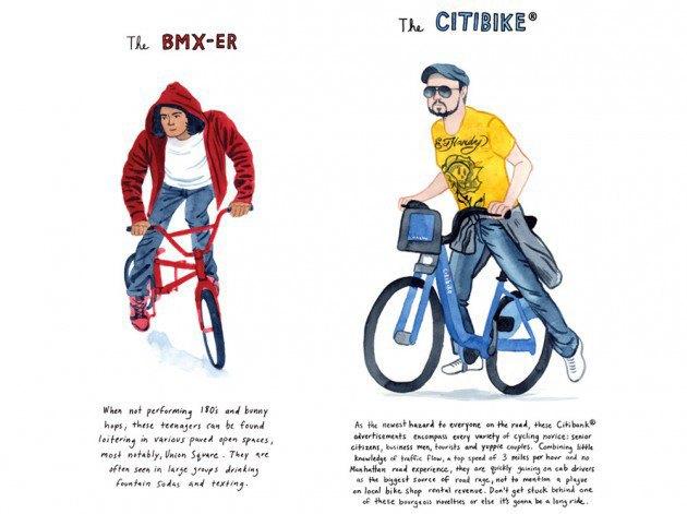 Художник-иллюстратор классифицировал нью-йоркских велосипедистов. Изображение № 6.