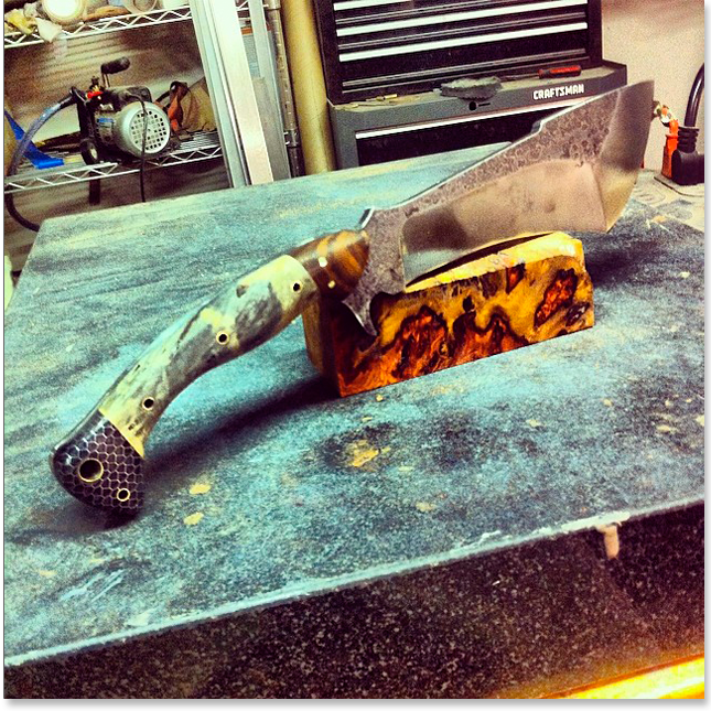 Ручная работа: Самодельный нож для разделывания мяса Biltsharp. Изображение № 1.