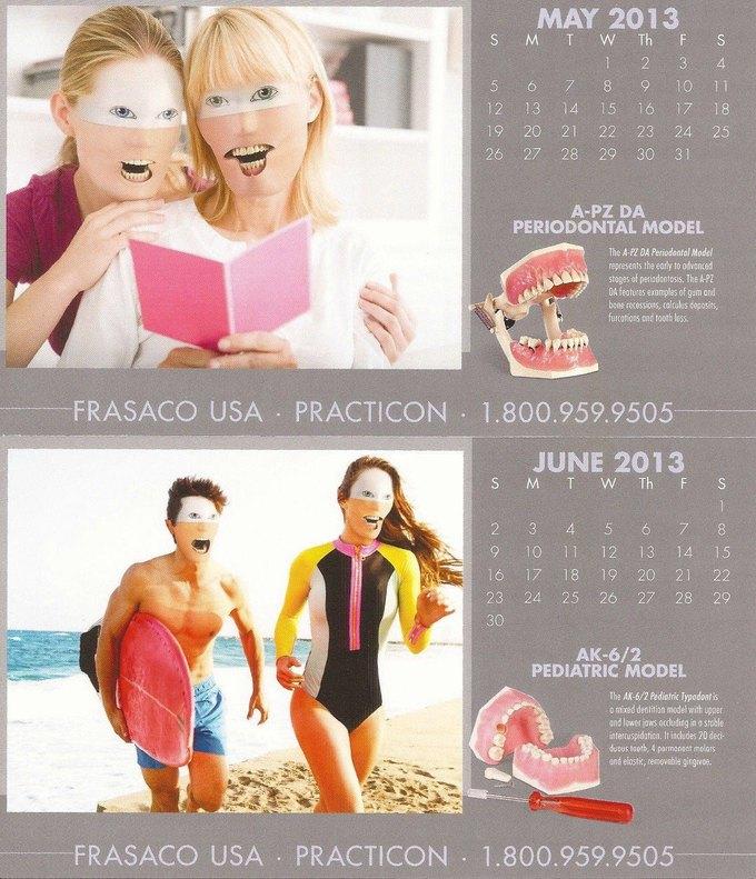Стена плача: Худшие календари на 2014 год. Изображение № 52.