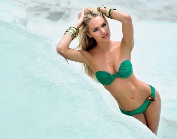 Модель Кэндис Свэйнпоул снялась в рекламе купальников Agua De Coco. Изображение № 4.