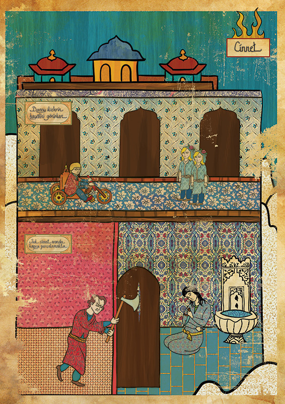 Турецкий художник изобразил кадры из известных фильмов в стиле миниатюр времен Османской империи. Изображение № 11.