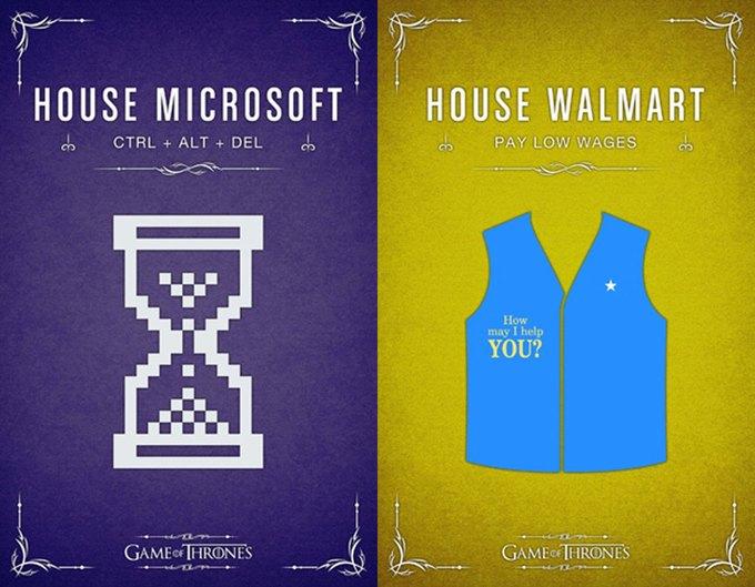 Как выглядели бы логотипы брендов в мире «Игры престолов». Изображение № 7.