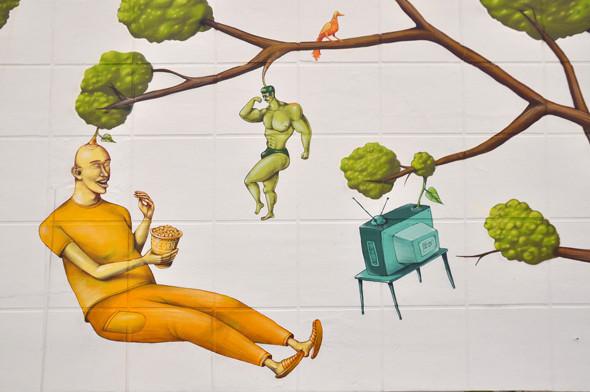 Скетчбук: Участники граффити-дуэта из Киева Interesni Kazki рассказывают о своих лучших работах. Изображение № 39.