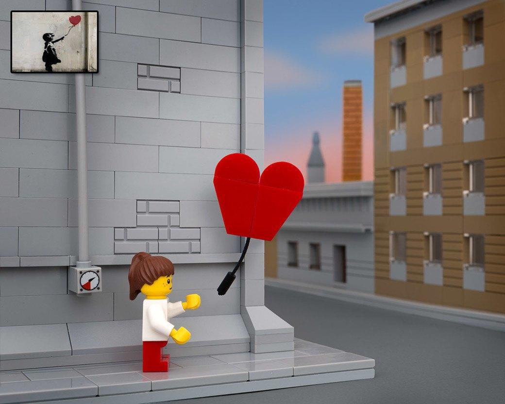 Bricksy: Работы Бэнкси из конструктора LEGO. Изображение № 1.