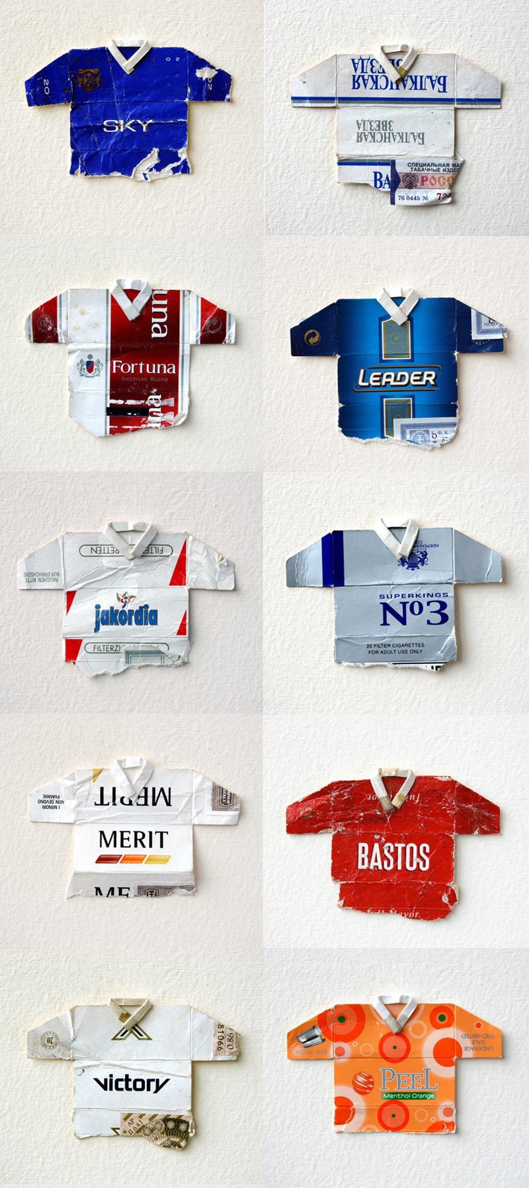 Мини-футболки из сигаретных пачек художника Льва Фицмориса. Изображение № 2.