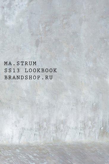 Московский магазин Brandshop выпустил лукбук марки MA.Strum. Изображение № 1.