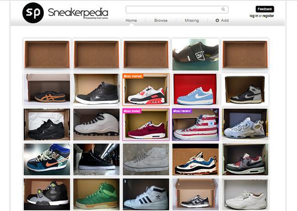 Главная страница Sneakerpedia. Изображение № 1.