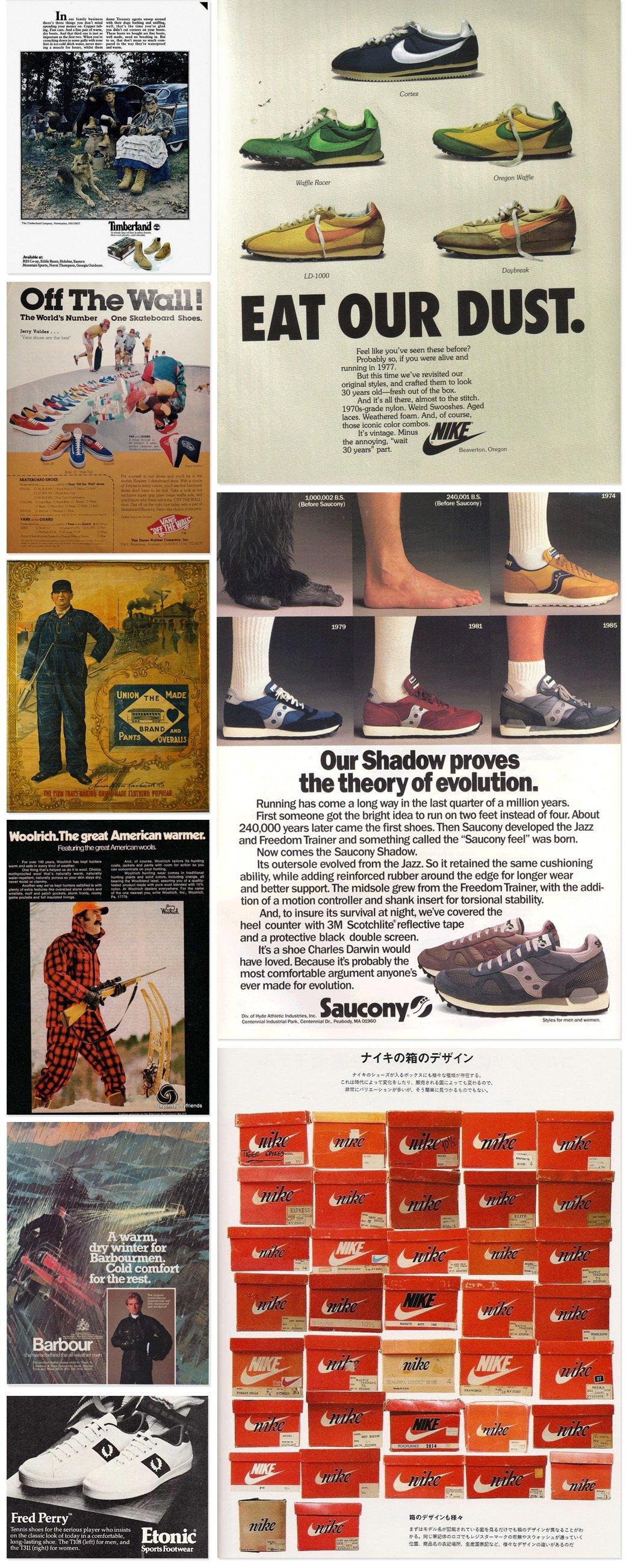 Назад в будущее: Винтажные рекламные плакаты современных марок одежды. Изображение № 4.
