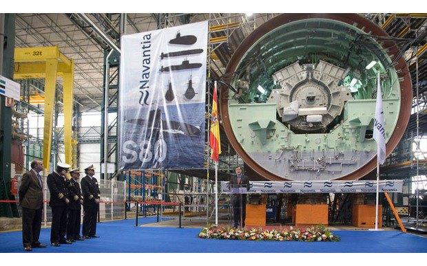 Испанские военные принимают новую подлодку S-80. Изображение № 1.