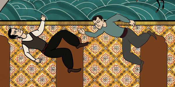 Турецкий художник изобразил кадры из известных фильмов в стиле миниатюр времен Османской империи. Изображение № 34.