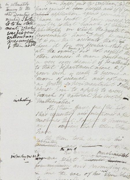 Рукопись романа «Франкенштейн» опубликована в сети. Изображение № 3.