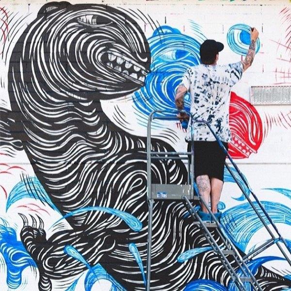 Гавайский фестиваль граффити Pow! Wow! в Instagram-фотографиях участников. Изображение № 16.