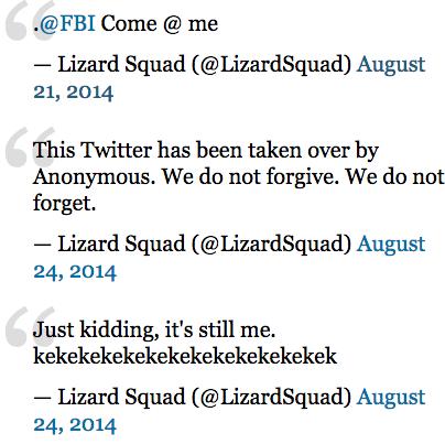 Кто такие Lizard Squad и чем они отличаются от Anonymous. Изображение № 3.