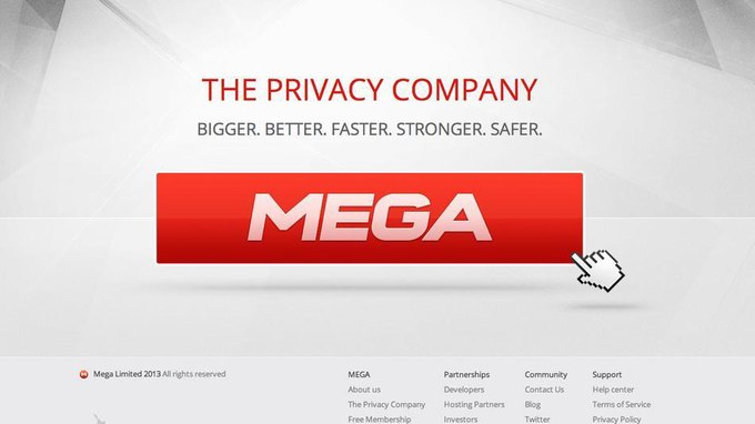 Создатель закрытого файлообменника Megaupload запустил новый ресурс Mega. Изображение № 1.