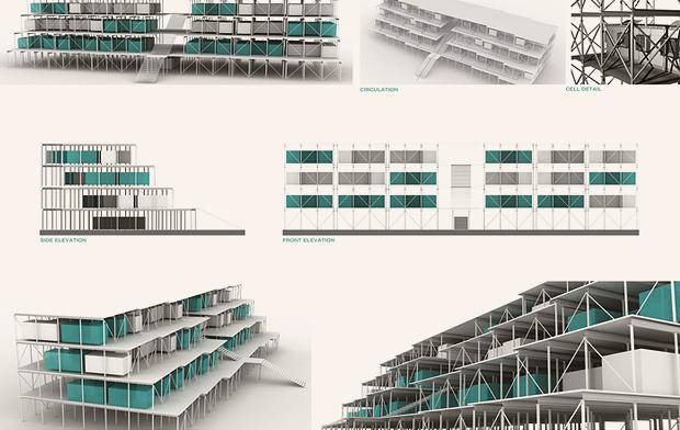 На коробке: Корабельные контейнеры как жилье на случай катастрофы. Изображение № 10.