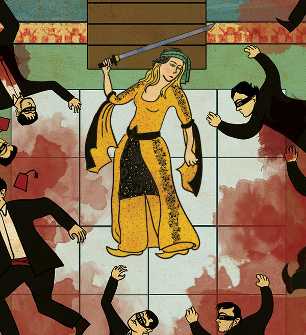 Турецкий художник изобразил кадры из известных фильмов в стиле миниатюр времен Османской империи. Изображение № 26.