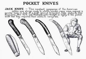 Примеры ножей американских революционеров XVIII века. Изображение №12.