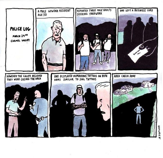 Police Log Comics: Абсурдные полицейские сводки в формате комиксов. Изображение № 15.