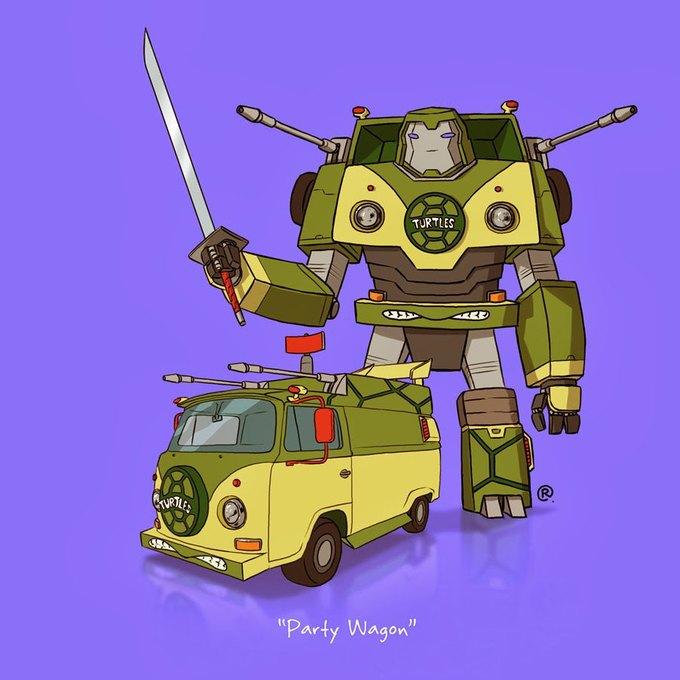 Даррен Роулингс: Если бы машины из культовых фильмов были трансформерами. Изображение № 5.