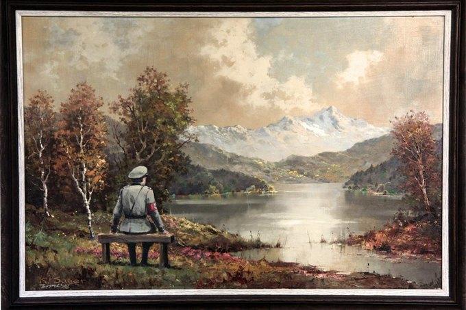 Картину Бэнкси «Банальность банальности зла» выставили на аукцион. Изображение № 1.