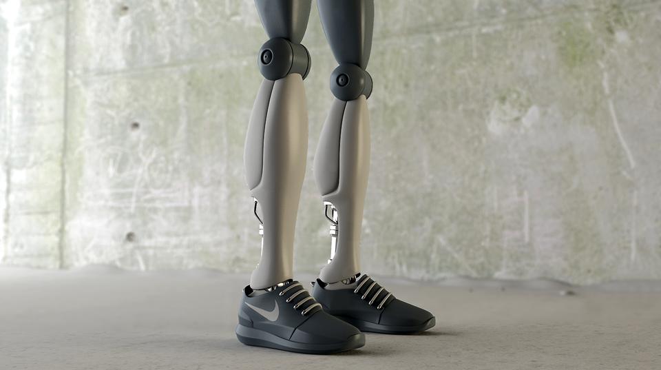 Как могли бы выглядеть кроссовки для гуманоидов?. Изображение № 2.