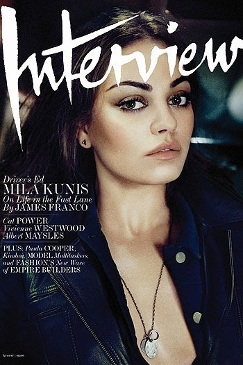 Мила Кунис снялась для нового номера Interview. Изображение № 8.