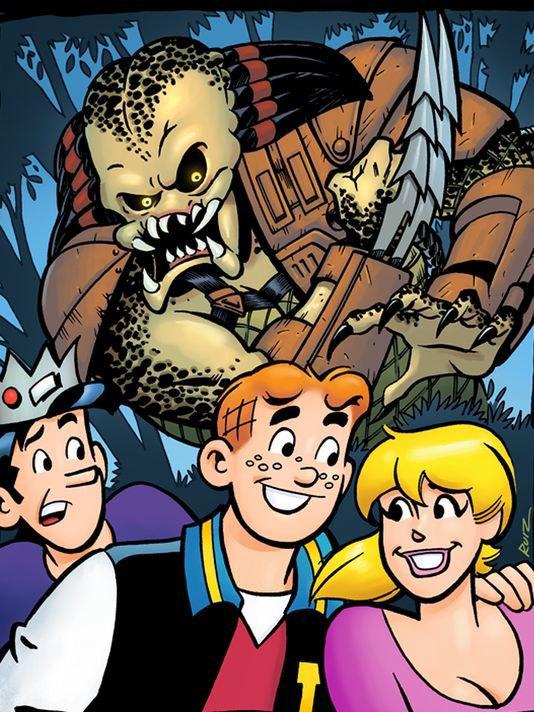 Издательство Archie выпустит комикс-кроссовер с Хищником. Изображение № 1.