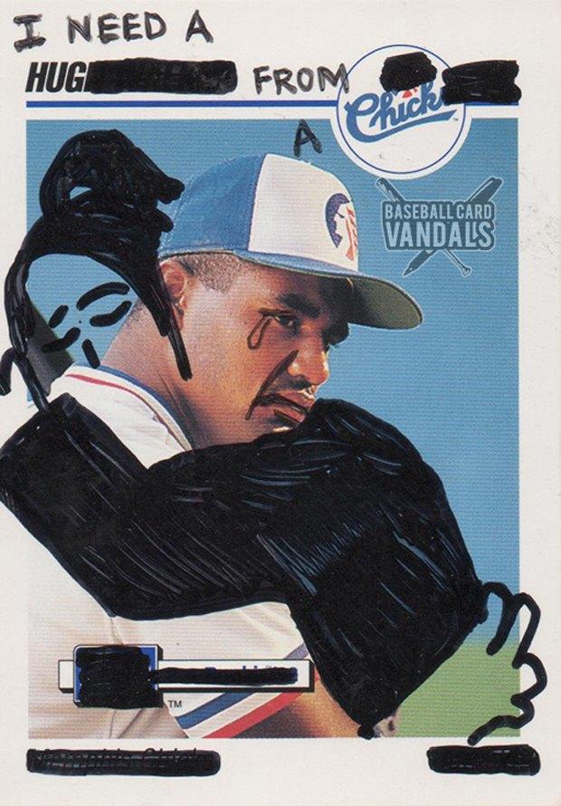 Baseball Card Vandals: Художники иронизируют над спортивными коллекционными карточками. Изображение № 18.
