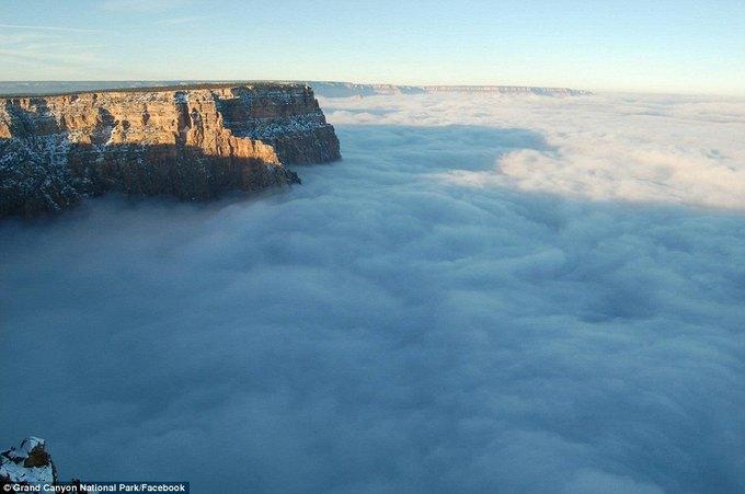 В Большом каньоне впервые за 10 лет появился туман. Изображение № 3.