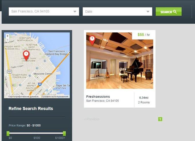 В США создали «Airbnb для музыкальных студий». Изображение № 1.