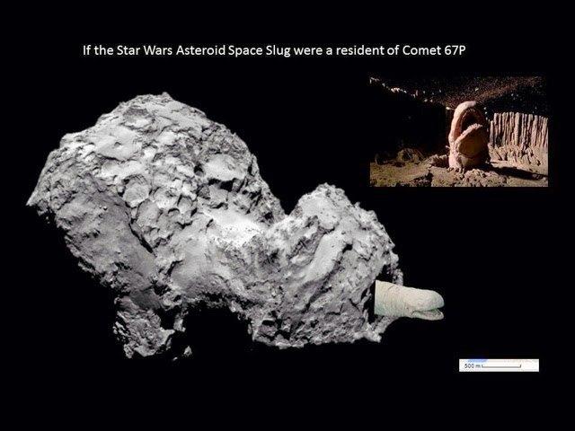 Физики сравнили размеры кометы 67P с космическими кораблями. Изображение № 5.