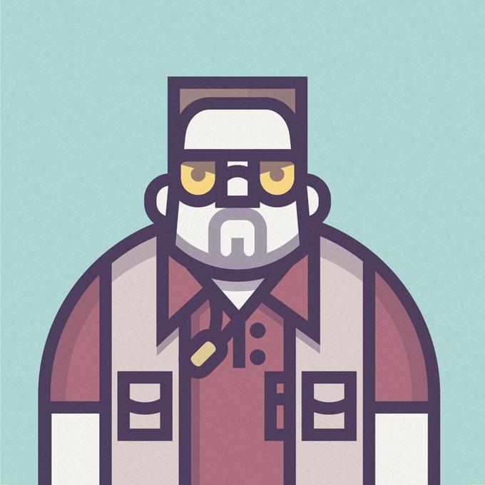 Coen Cast: Персонажи фильмов братьев Коэн в иллюстрациях дизайнера Ричарда Переса. Изображение № 6.