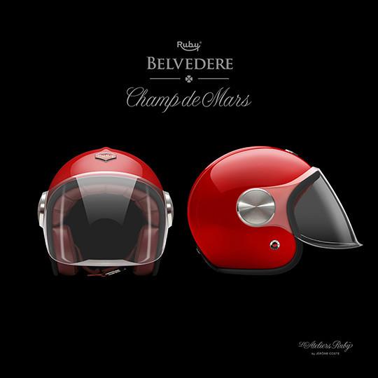 Коллекция мотоциклетных шлемов марки Les Ateliers Ruby. Изображение № 1.