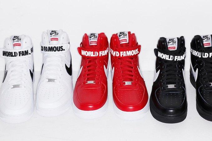 Марки Supreme и Nike выпустили совместную коллекцию кроссовок. Изображение № 5.