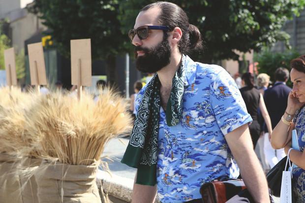 Первый день Pitti Uomo: Прически, усы и бороды посетителей. Изображение № 16.