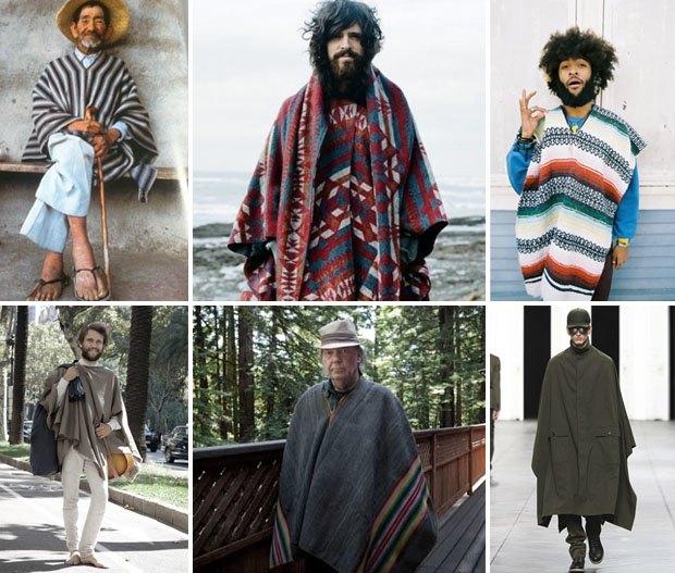 Неочевидный тренд: Как носить мексиканские пончо и серапе, если очень хочется. Изображение № 2.