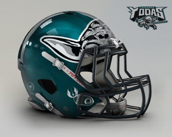 Мексиканец создал коллекцию футбольных шлемов, посвящённую «Звёздным войнам». Изображение № 3.