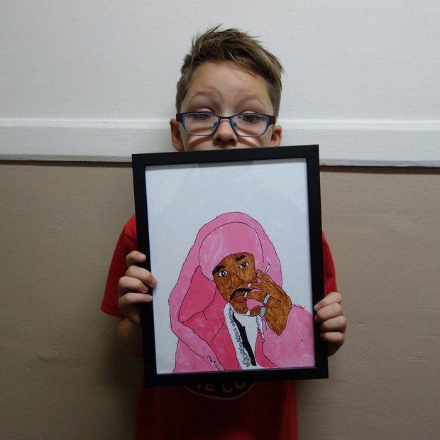 7-летний мальчик завёл Instagram с фан-артами обложек культовых музыкальных альбомов. Изображение № 1.