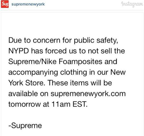 Полиция разогнала очередь за кроссовками Nike Foamposite и Supreme из-за беспорядков. Изображение № 1.