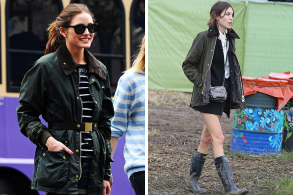 Девушки тоже любят вощеные куртки: Алекса Чанг и Оливия Палермо, например. Изображение № 19.