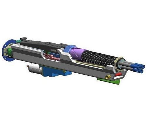 Немецкая компания изготовила трехствольный пулемет с электромотором. Изображение № 2.