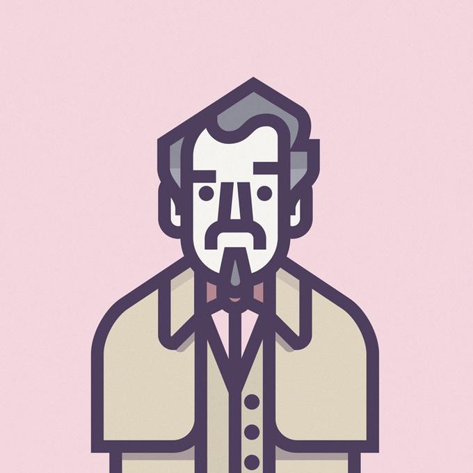 Coen Cast: Персонажи фильмов братьев Коэн в иллюстрациях дизайнера Ричарда Переса. Изображение № 9.