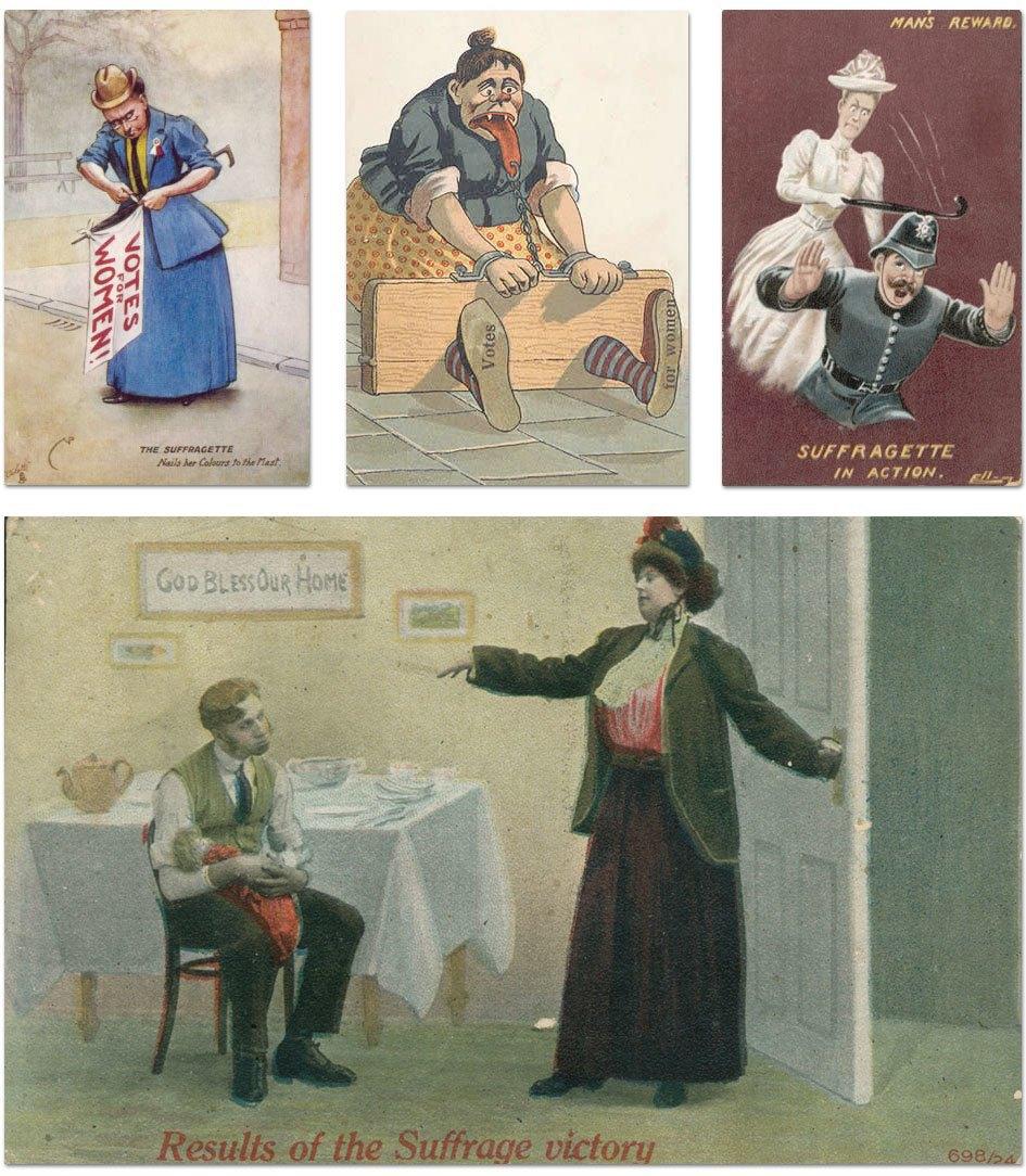 Cуфражистские плакаты и карикатуры начала XX века. Изображение № 8.