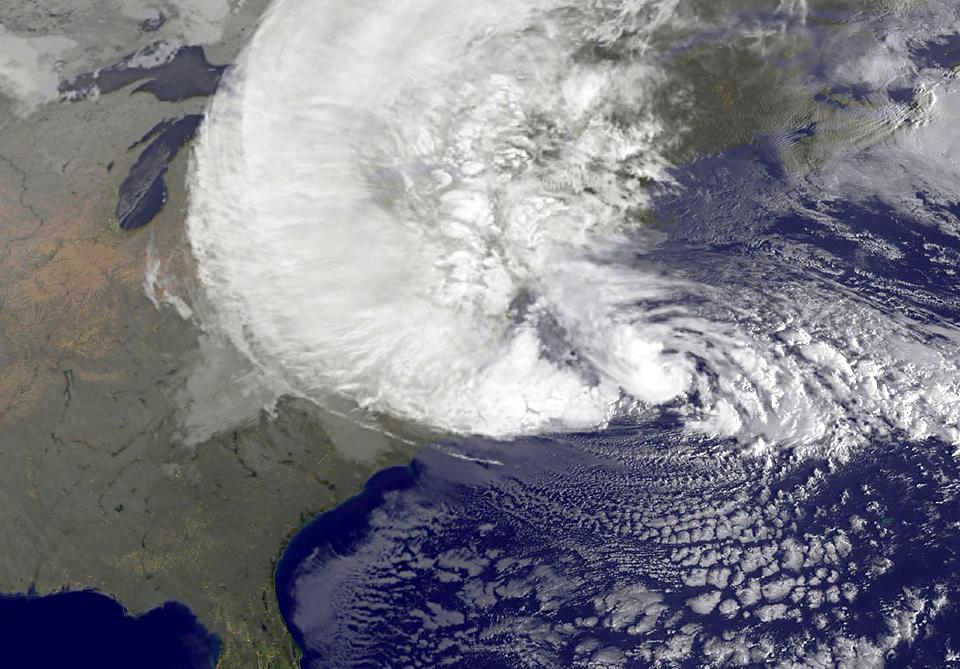 Фотографии урагана Сэнди, вид из космоса. Изображение № 1.