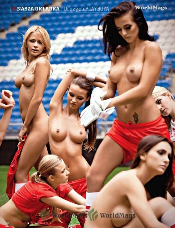 Девушки из Playboy протестировали футбольный стадион для Евро-2012. Изображение № 3.