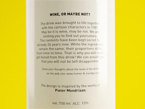 Художники из России посвятили дизайн винных бутылок «Симпсонам». Изображение № 2.